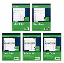 "Adams Sales Order Book 3-Part 5-9/16""x8-7/16"" 50/Book, 5 Pack"