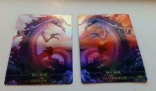 2x FOIL Wurm tokens for Wurmcoil | MTG altered full art foil custom token