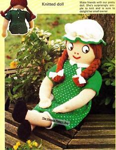 LARGE DOLL 68cm - D.K.or 8ply - COPY knitting pattern