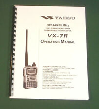 Yaesu VX-7R Instruction manual -  Premium Card Stock Covers & 32 LB Paper!