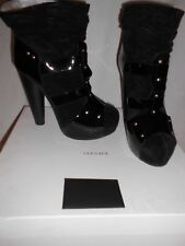 Gianni Versace Black patent leather and suede boots EU41 RRP £999