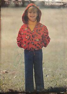 Sweet & Easy VTG BUTTERICK 6406 Toddler Girls Jacket & Pants PATTERN 5-6-6X UC