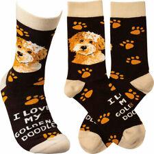 Goldendoodle I Love My Dog Socks