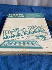 Print File Archival Preservers Custom Proofer Unused, Open Box