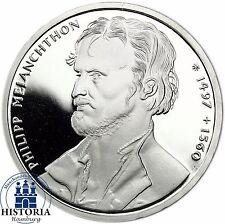 BRD 10 DM Philipp Melanchthon 1997 Silber Spiegelglanz Münze in Münzkapsel