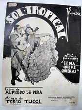 Carlos Gardel Cover Sol Tropical Paramount Tango Sheet Music Argentina 1935