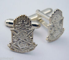 Alpha Epsilon Pi, ΑΕΠ, .925 Sterling Silver  Crest Cufflinks By McCartney