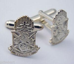 Alpha Epsilon Pi, ΑΕΠ, .925 Sterling Silver  Crest Cufflinks By McCartney