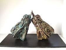 "Lost Wax Bronze Cast  ""Internet Dating""  Gourd Decorative Fine Art Sculpture"