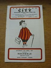 15/04/1967 Bradford City v Rochdale  (Rusty Staple/Mark). Item In very good cond