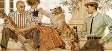 1910 JC Leyendecker, GOLF, Collie, ARROW COLLAR Advertisement, 20x10 Canvas ART
