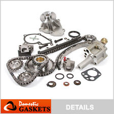 Fit 98-04 Nissan Frontier Xterra 2.4 DOHC Timing Chain Water&Oil Pump Kit KA24DE