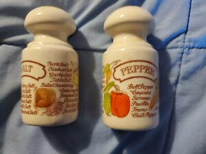 Herbal Salt and Pepper Shakers