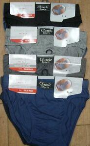 12 Pack Men Classic Sports Ribbed Slips Briefs Pants Soft Cotton Underwear S-5XL