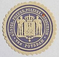 GERMANY LOCAL LABEL ENVELOPE SEAL,Königl. Preuss. Polizei-Direction Potsdam(7200