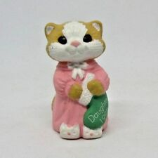 Hallmark Merry Miniature 1992 Daughter Kitten with Christmas Stocking