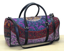 New Indian Cotton Ethnic Handmade Adjustable Strap Luggage Bag Sports Duffel Bag