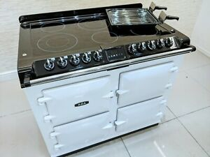 AGA S SERIES SIX FOUR CERAMIC ALL ELECTRIC RANGE COOKER IN WHITE A665