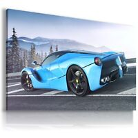FERRARI LA FERRARI ROYAL BLUE MOUNTAINS Cars Wall Art Canvas Picture AU99 MATAGA