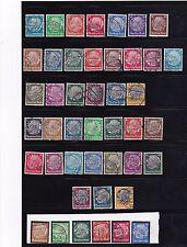GERMANY 1932-34 Hindenberg  394, 407,431,441(4) COMPLETE SETS~