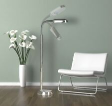 Brushed Stainless Steel Natural Daylight Floor Lamp 27w Energy Bulb (150w)