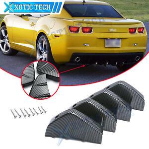 For Chevy Camaro Carbon Fiber Pattern Rear Bumper Lower Lip Splitter Diffuser