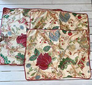 Pottery Barn Wells Palampore Floral Pillow Sham Set 2 Standard 1 Euro Natural