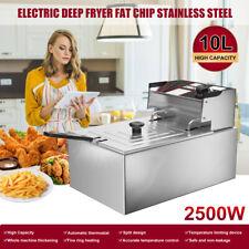 Friteuse Fritteuse Edelstahl Fritöse Elektrische Kaltzonen 10 Liter Frittieren
