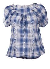 Maglie e camicie da donna Blusa in cotone blu