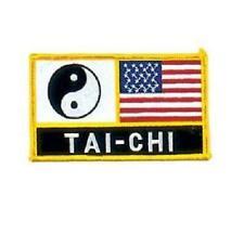 "Yin Yang Tai Chi American Flag Patch USA 5"""