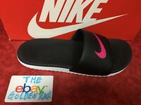 NIKE Kawa Women's Slide Sandal 834588 060 Black/Vivid Pink Fast shipping