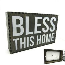 BLESS THIS HOME gun rack storage hidden cabinet jewelry safe secret compartment