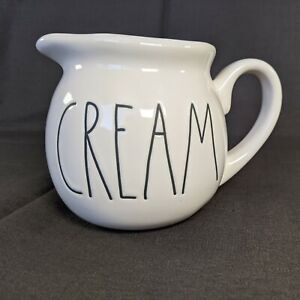 "Rae Dunn ""CREAM"" Pitcher Minimalist Farmhouse Artisan Collection Creamer New"