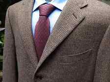 Ermenegildo Zegna Brown Check Wool/Cashmere/Silk Sport Coat, 46L, Switzerland