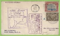Canada /USA 1928 two Flight cover, one leg Bay City to Chicago cachet cover