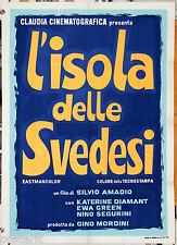 manifesto 2F originale L'ISOLA DELLE SVEDESI Catherine Diamant Eva Green 1969 #2