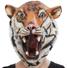 Adult Tiger Overhead Mask Costume Accessory Zoo Safari Animal Fancy Dress Outfit