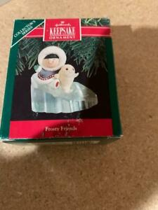 Hallmark Keepsake Ornament Frosty Friends Eskimo 1990 Seal #11 11th Series