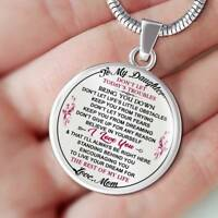 To My Daughter - Mom Necklace, Gift for Daughter from Mother Mama, Birthday Gift