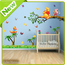 Winnie The Pooh Wall Stickers Animal Jungle Nursery Baby Kids Room Decal Art