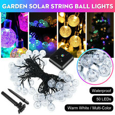 50LED Solar Power String Fairy Light Garden Outdoor Party Wedding Xmas Lamp