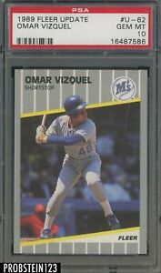 1989 Fleer Update #U-62 Omar Vizquel Mariners RC Rookie PSA 10 GEM MINT