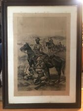 More details for boer war antique large lithograph by richard caton woodville