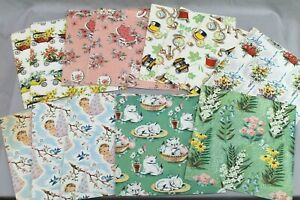 Vintage Box of All Purpose Gift Wrap Wrapping Paper & Cards