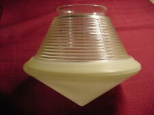 Vintage Art Deco Cone Shaped Ceiling Light Cover Frosted Clear