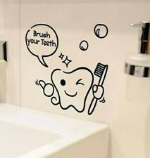 Funny Smiling Teeth Creative Kids bathroom wall stickers home decoration Decol