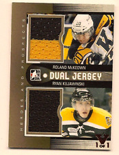 MCKEOWN & KUJAWINSKI IN THE GAME FINAL VAULT DUAL GAME USED JERSEY 1/1