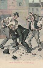 a irish life eire old postcard ireland beating an ric police man political