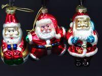 Vintage Thomas Pacconi Christmas Santa Claus Ornaments Blown Glass Mercury Lot 7
