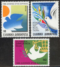 Greece. INTERNATIONAL YEAR OF PEACE 1986 MNH. Sun & Dove Doves with olive branch